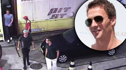Ryan Lochte and US swim team friends caught on camera at gas station on controversial