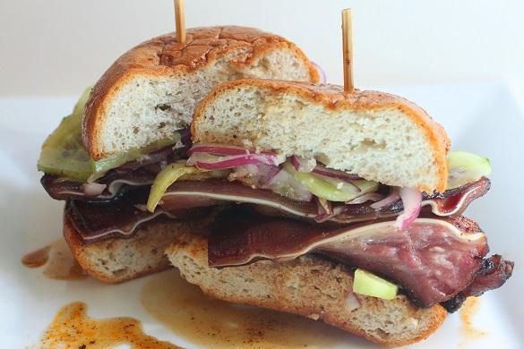pork ear sandwich